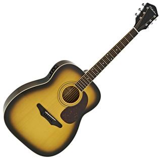 Silvertone 633E Electro Acoustic Guitar, American Vintage Sunburst