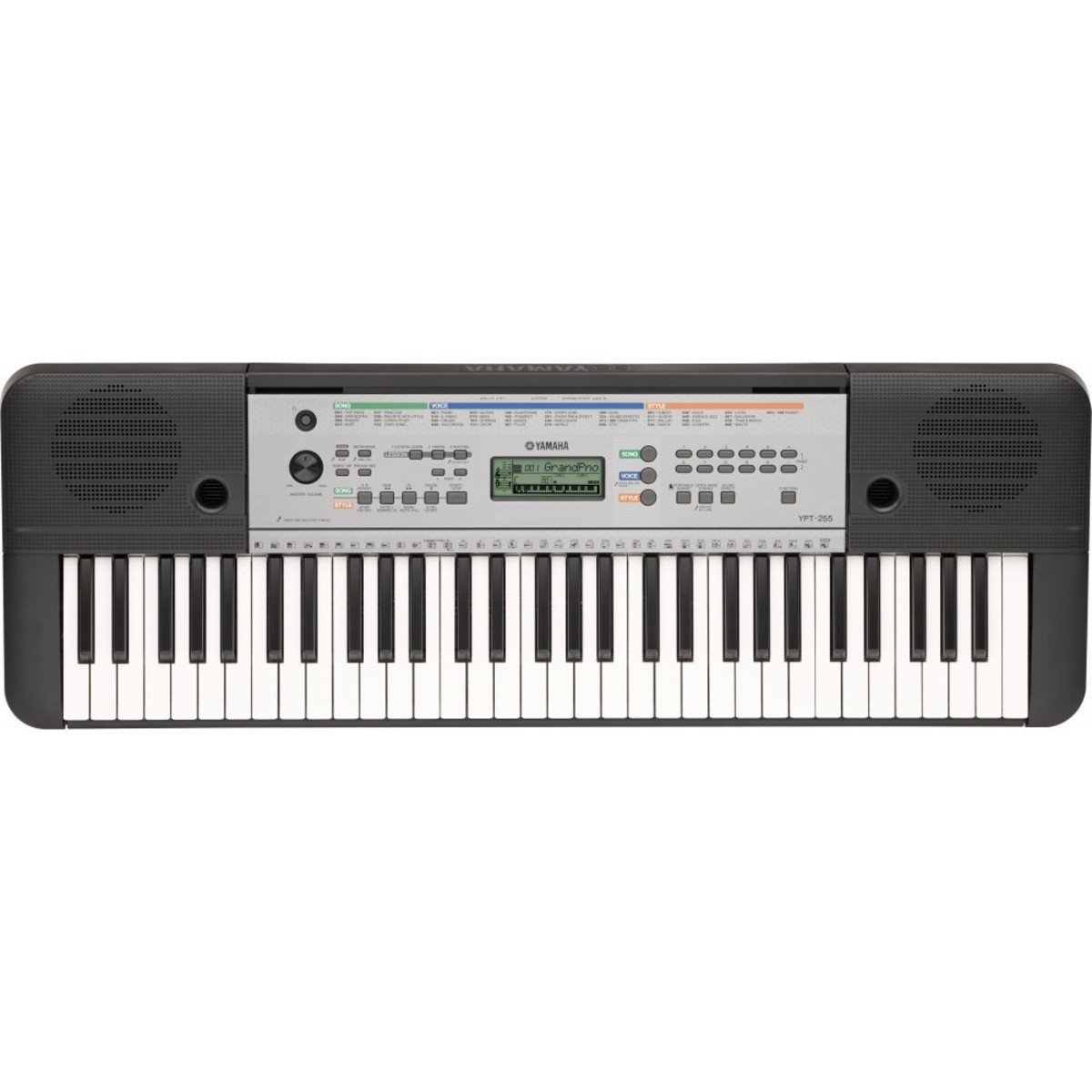 yamaha ypt 255 61 key portable keyboard at. Black Bedroom Furniture Sets. Home Design Ideas