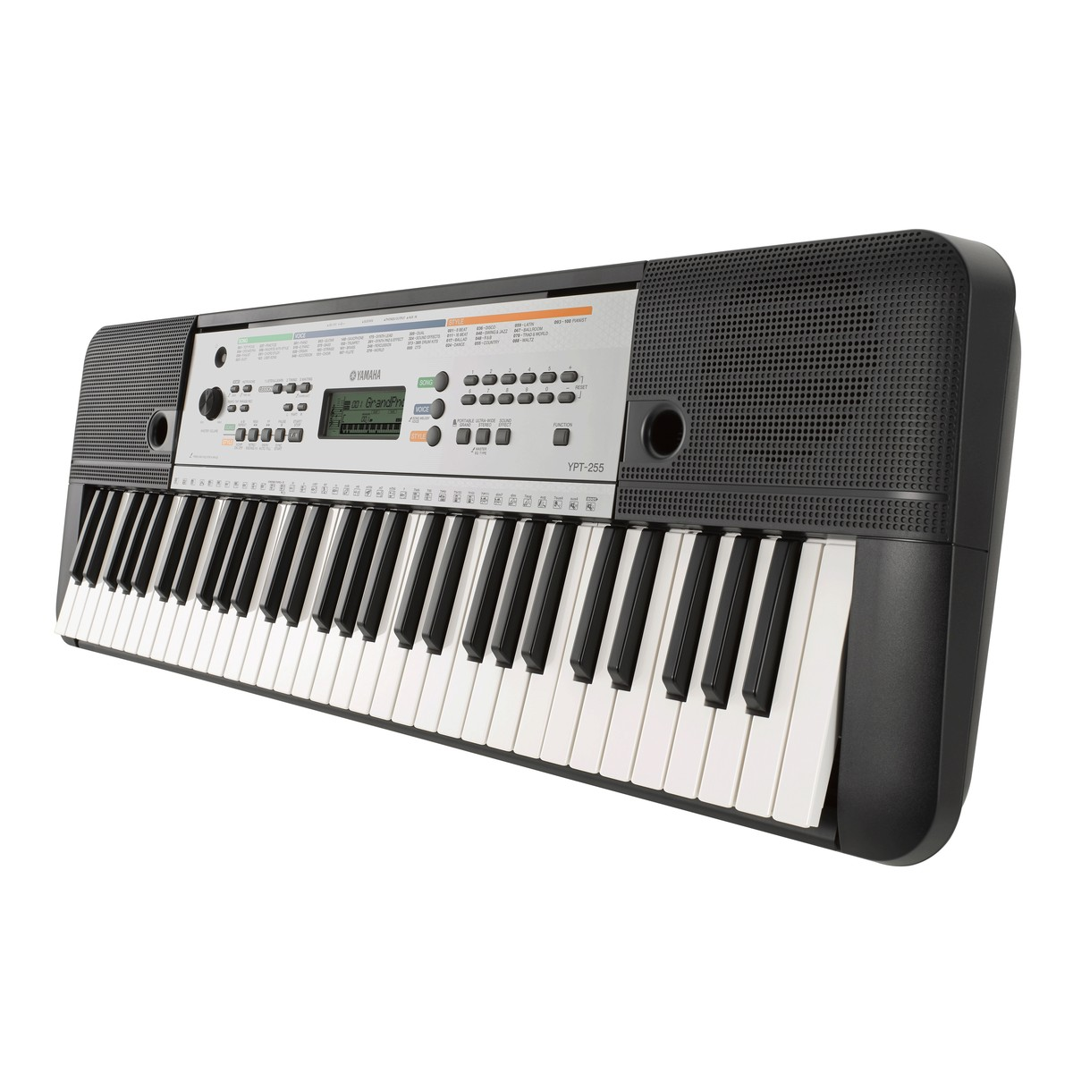 yamaha ypt 255 61 key portable keyboard at. Black Bedroom Furniture Sets. Home Design Ideas