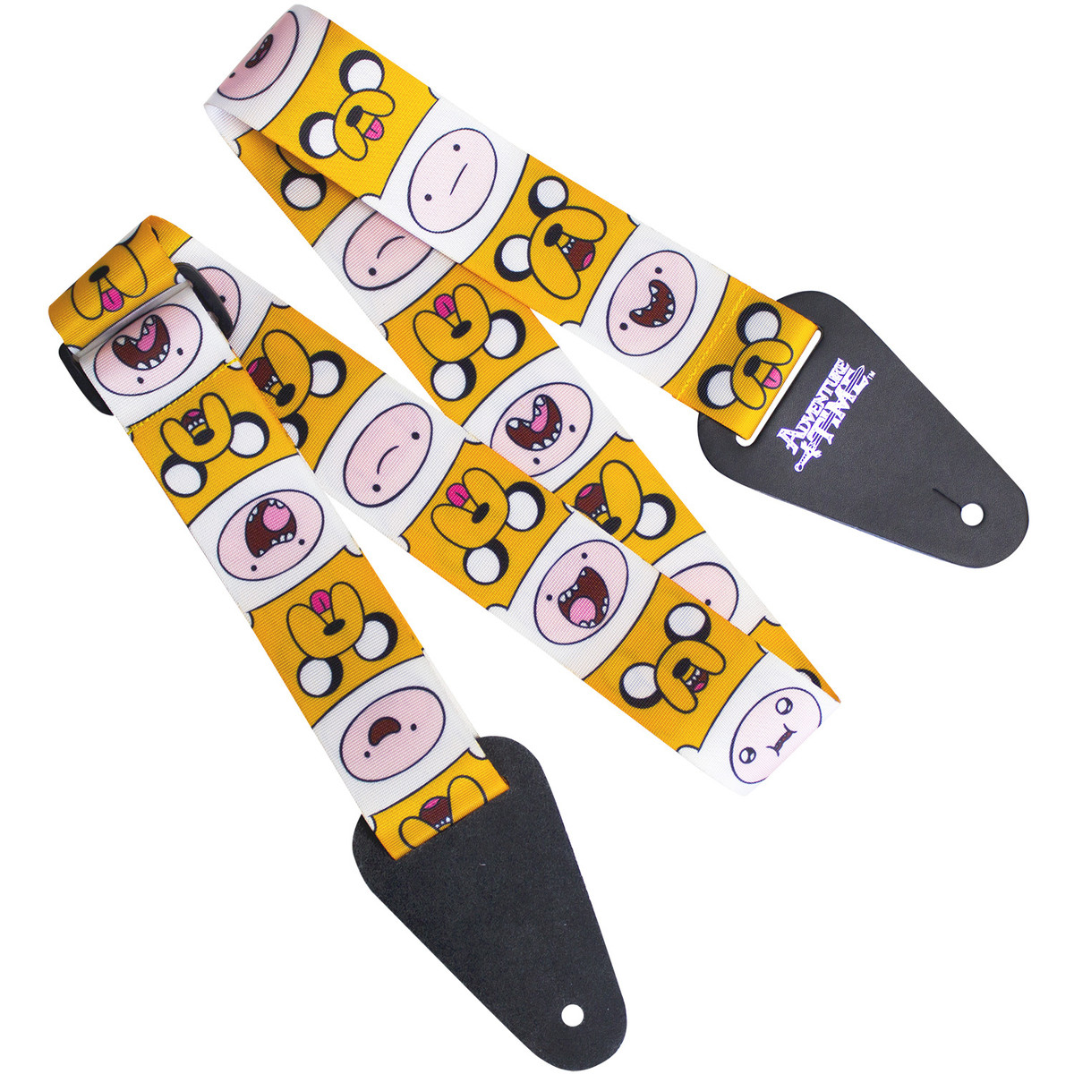 Image of Adventure Time Finn and Jake Fabric Guitar Strap