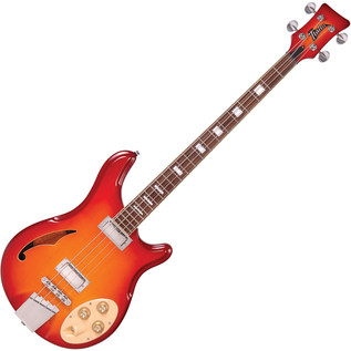 Italia Rimini 4 Bass Guitar, Cherry Sunburst with Gig Bag