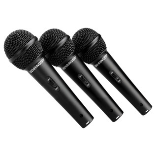 Behringer XM1800S Dynamic Mic (Pack Of 3) - Microphones