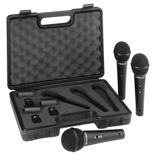Behringer XM1800S Dynamic Mic (Pack Of 3) - Accessories Pack