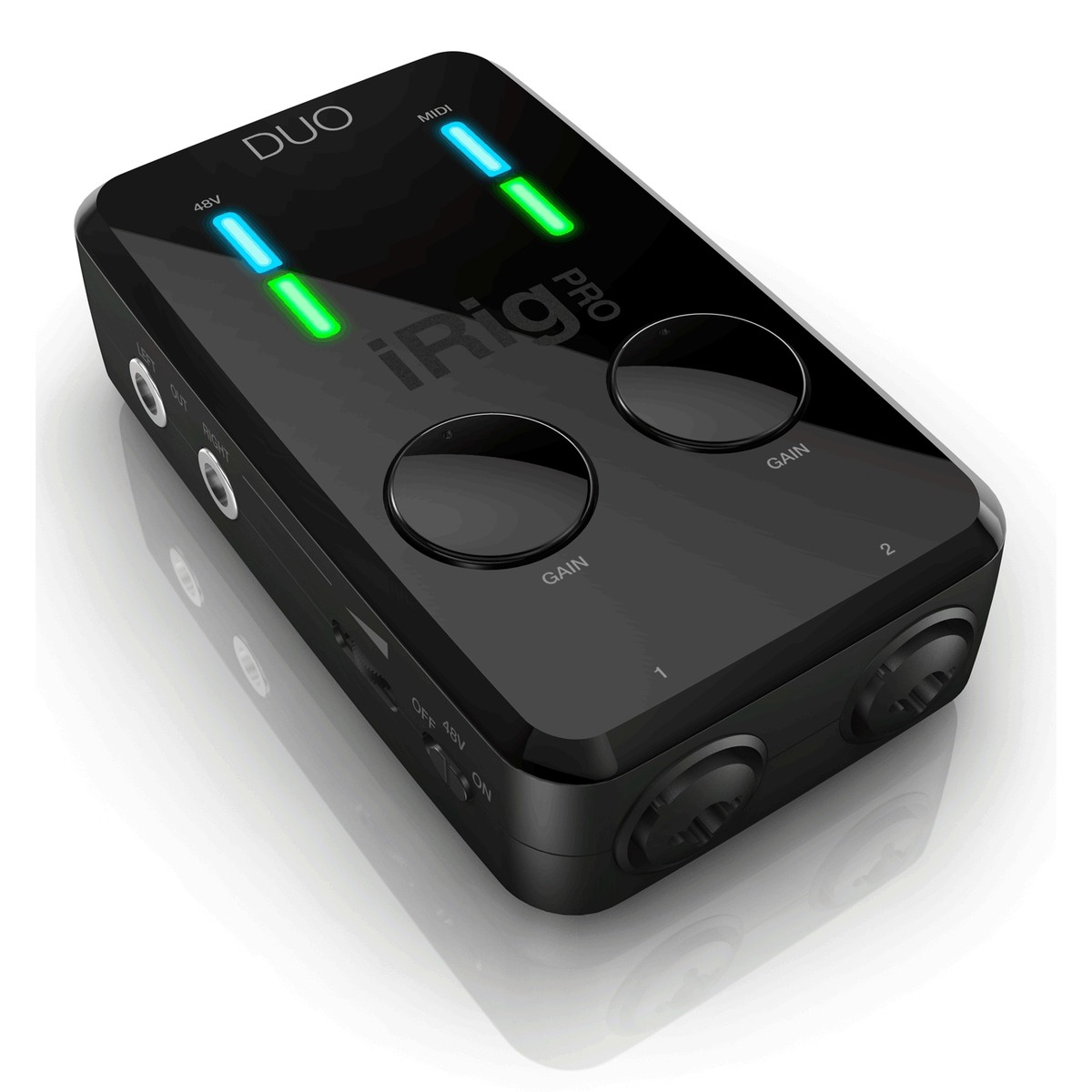 Image of IK Multimedia iRig Pro DUO 2-Channel Interface for iOS Mac and PC