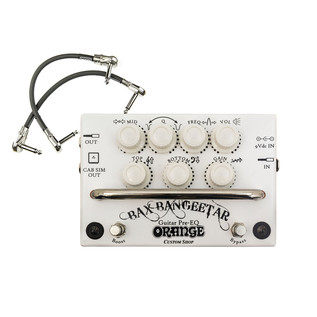 Orange BAX Bangeetar Guitar Pre-EQ Pedal, White + Free Cable