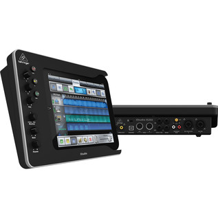 Behringer iStudio iS202 iPad Mixer Dock - Side and Rear View