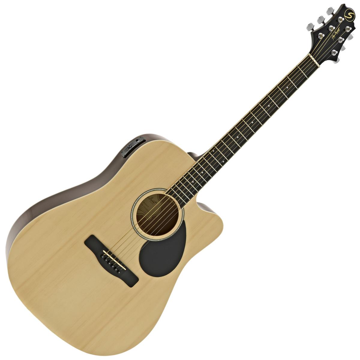 Image of Greg Bennett D-2CE Electro Acoustic Guitar Natural