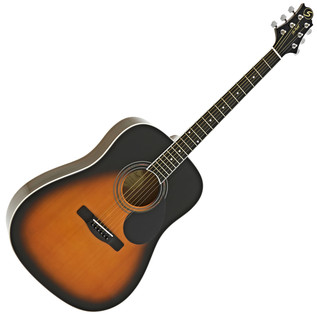 Greg Bennett GD-101S Acoustic Guitar, Vintage Sunburst