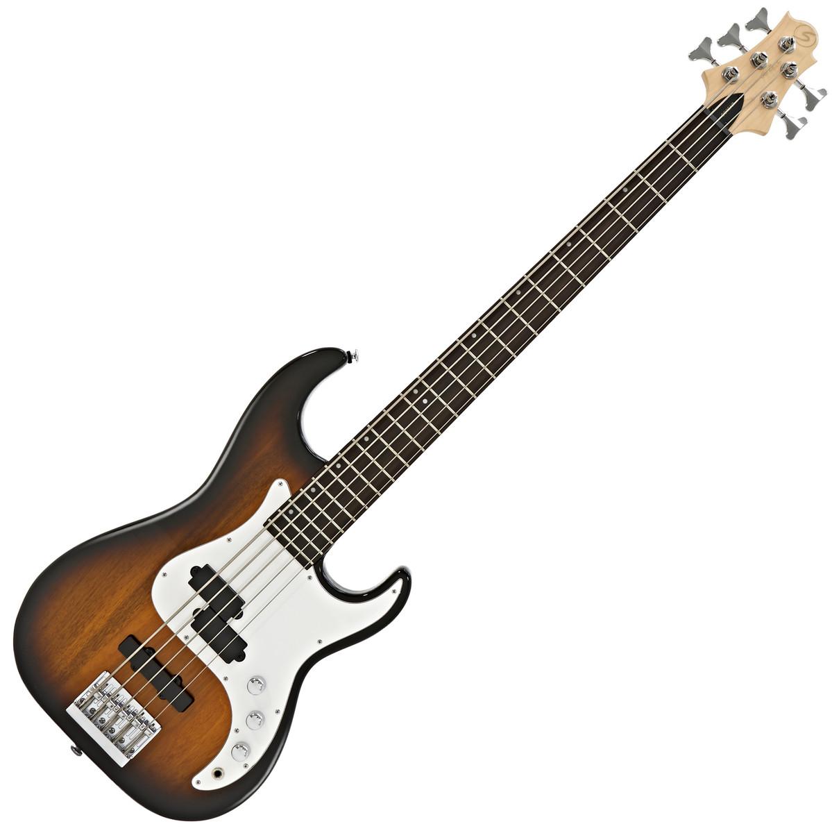 Image of Greg Bennett Corsair CR-15 5-String Bass Guitar Tobacco Sunburst