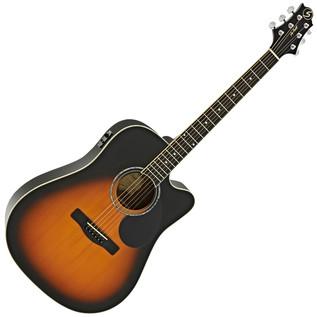 Greg Bennett GD-100RSCE Electro Acoustic Guitar, Vintage Sunburst
