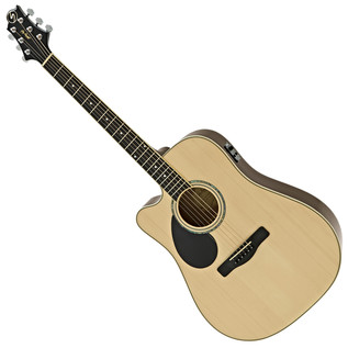 Greg Bennett GD-100SCE Left Handed Electro Acoustic Guitar, Natural