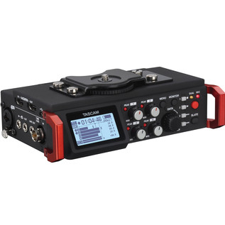 Tascam DR701D 6-Track Recorder for DSLR Cameras with HDMI - Front Side
