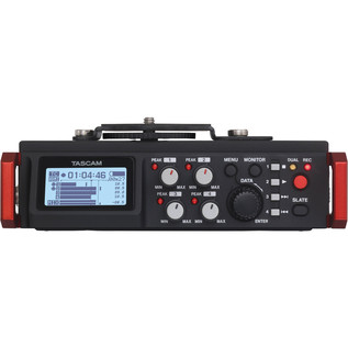 Tascam DR701D 6-Track Recorder for DSLR Cameras with HDMI - Front View