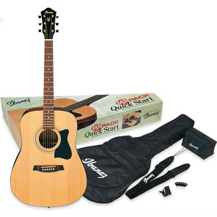 Ibanez V50NJP Acoustic Guitar JamPack in Natural