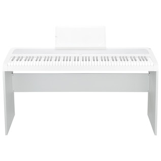 Korg B1 Digital Piano Stand, White - Piano View (Not Included)