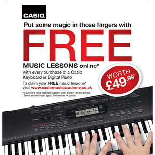 Casio Piano Lessons