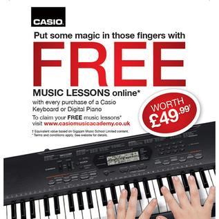 Casio Piano Lessons