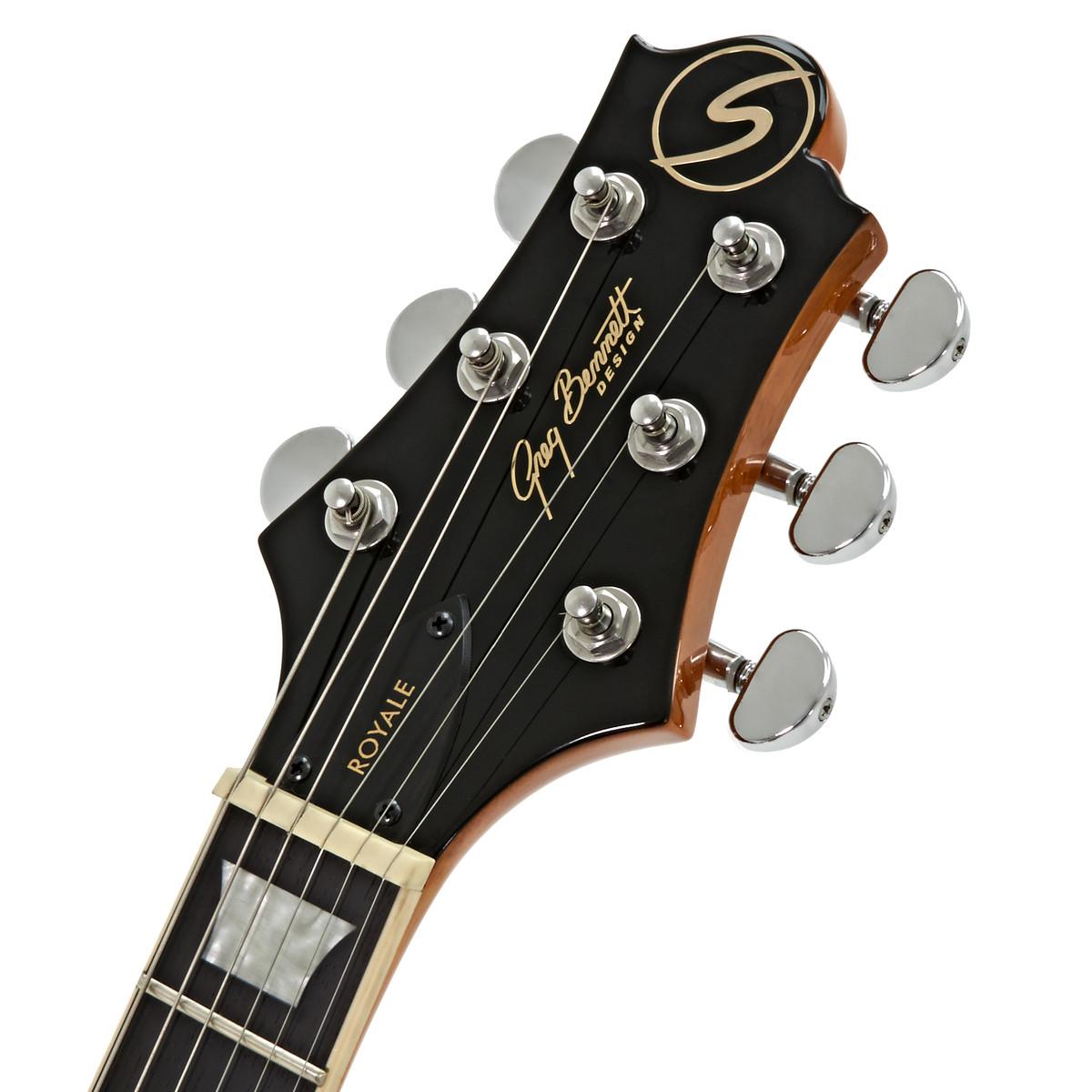 greg bennett royale rl 3 electric guitar amber at. Black Bedroom Furniture Sets. Home Design Ideas