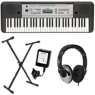 yamaha ypt 255 61 key portable keyboard pack at. Black Bedroom Furniture Sets. Home Design Ideas