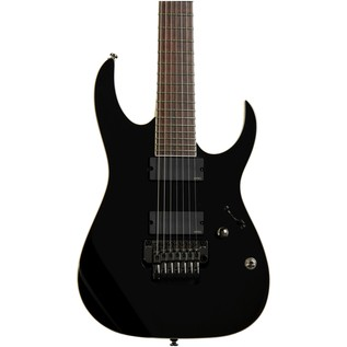 Ibanez Iron Label RGIR27E 7-String Electric Guitar, Black