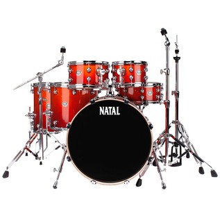 Natal Arcadia UFX Plus Drum Kit With Hardware Pack, Sunburst Lacquer