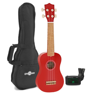 Ukulele Pack by Gear4music, Red