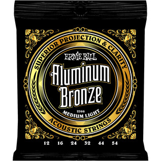 Ernie Ball 2566 Aluminium Bronze Acoustic Guitar Strings, 12-54