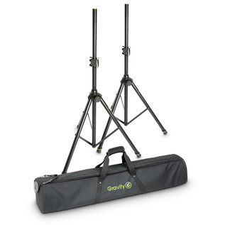 Gravity GSP5211BSet1 Speaker Stand, Pair with Carry Bag