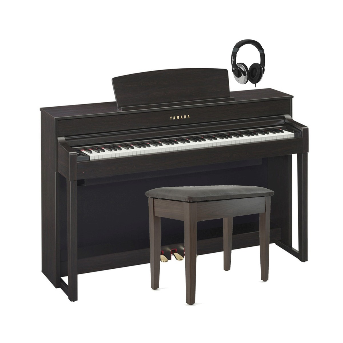 yamaha clp575 clavinova digital piano rosewood package deal at. Black Bedroom Furniture Sets. Home Design Ideas