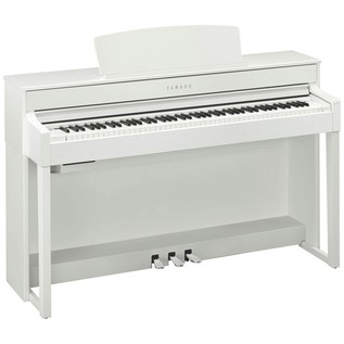 Yamaha Clavinova CLP575 Digital Piano, White Package Deal