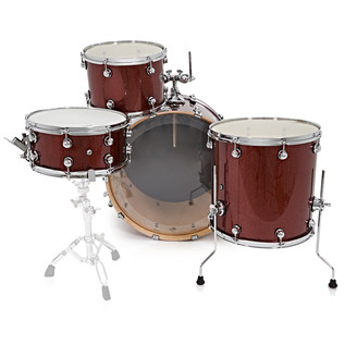 Natal Arcadia 4 Piece Rock Shell Pack, Red Sparkle