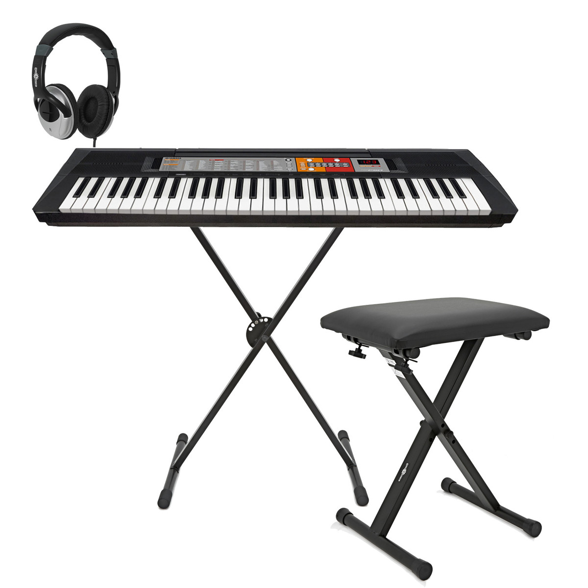 Disc Yamaha Psr F50 Keyboard With X Frame Stand Stool And