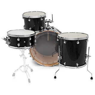 Natal Arcadia 4 Piece Rock Shell Pack, Black Sparkle