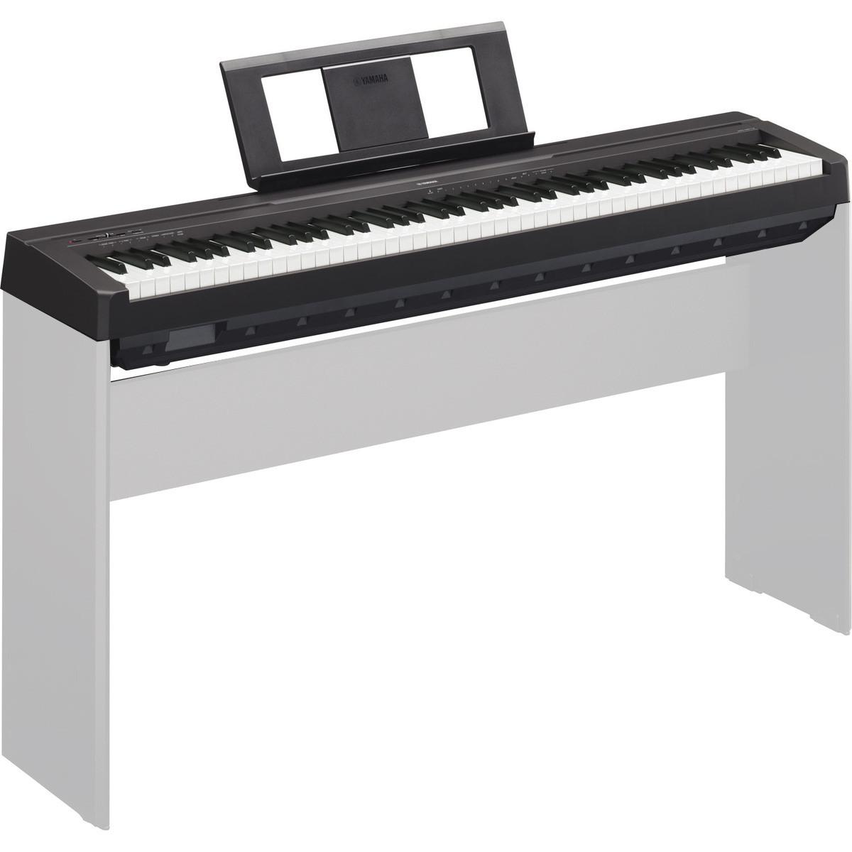 yamaha p45 digital piano black at. Black Bedroom Furniture Sets. Home Design Ideas