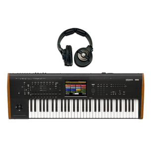Korg Kronos 61 2015 Music Workstation Including Free KRK Headphones
