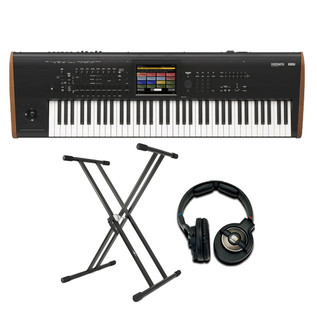 Korg Kronos 73 2015 Music Workstation with Stand and Headphones