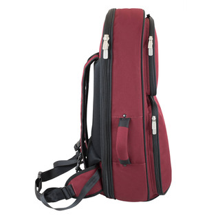 Tom and Will 26BH Baritone Horn Gig Bag, Black and Burgundy