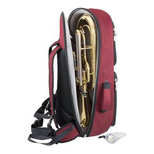 Tom and Will 26BH Baritone Horn Gig Bag, Black and Burgundy