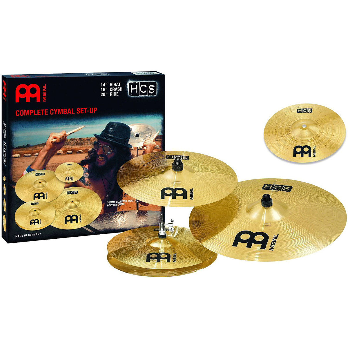 Image of Meinl HCS Complete Cymbal Set with Free 10 Splash