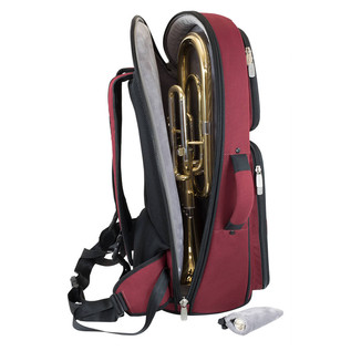 Tom and Will 26TH Tenor Horn Gig Bag, Black and Burgundy