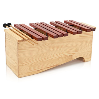 Floor Standing Alto Xylophone by Gear4music, Chromatic Half