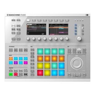 Native Instruments Maschine Studio, White with KRK KNS8400 Headphones