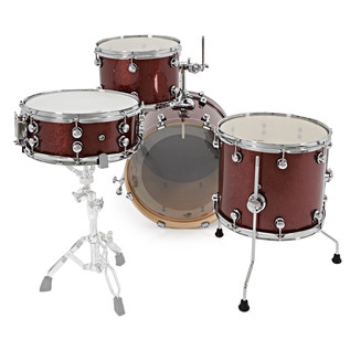 Natal Arcadia 4 Piece Jazz Shell Pack, Red Sparkle