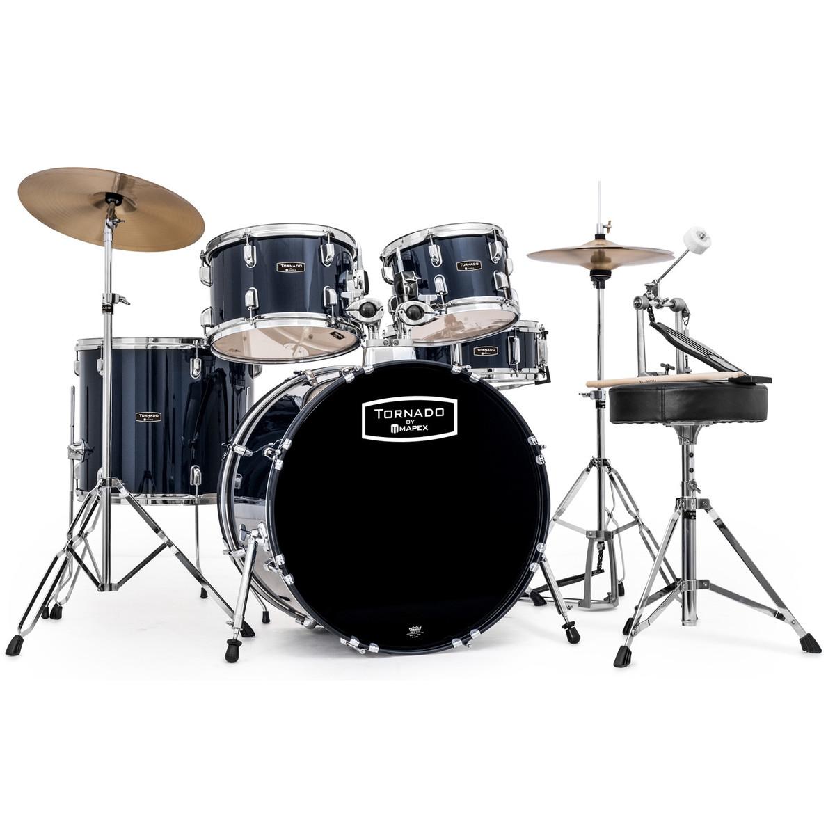 Mapex Tornado Iii 22 Rock Fusion Drum Kit Blue Ex