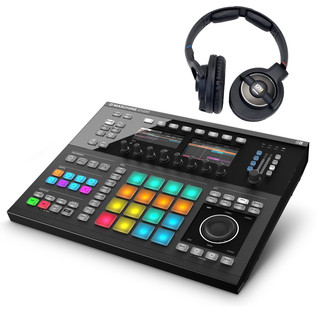 Native Instruments Maschine Studio, Black with KRK KNS8400 Headphones
