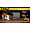 Squier Stop Dreaming, begynde at spille affinitet Jazz bas Pack, Sunburst