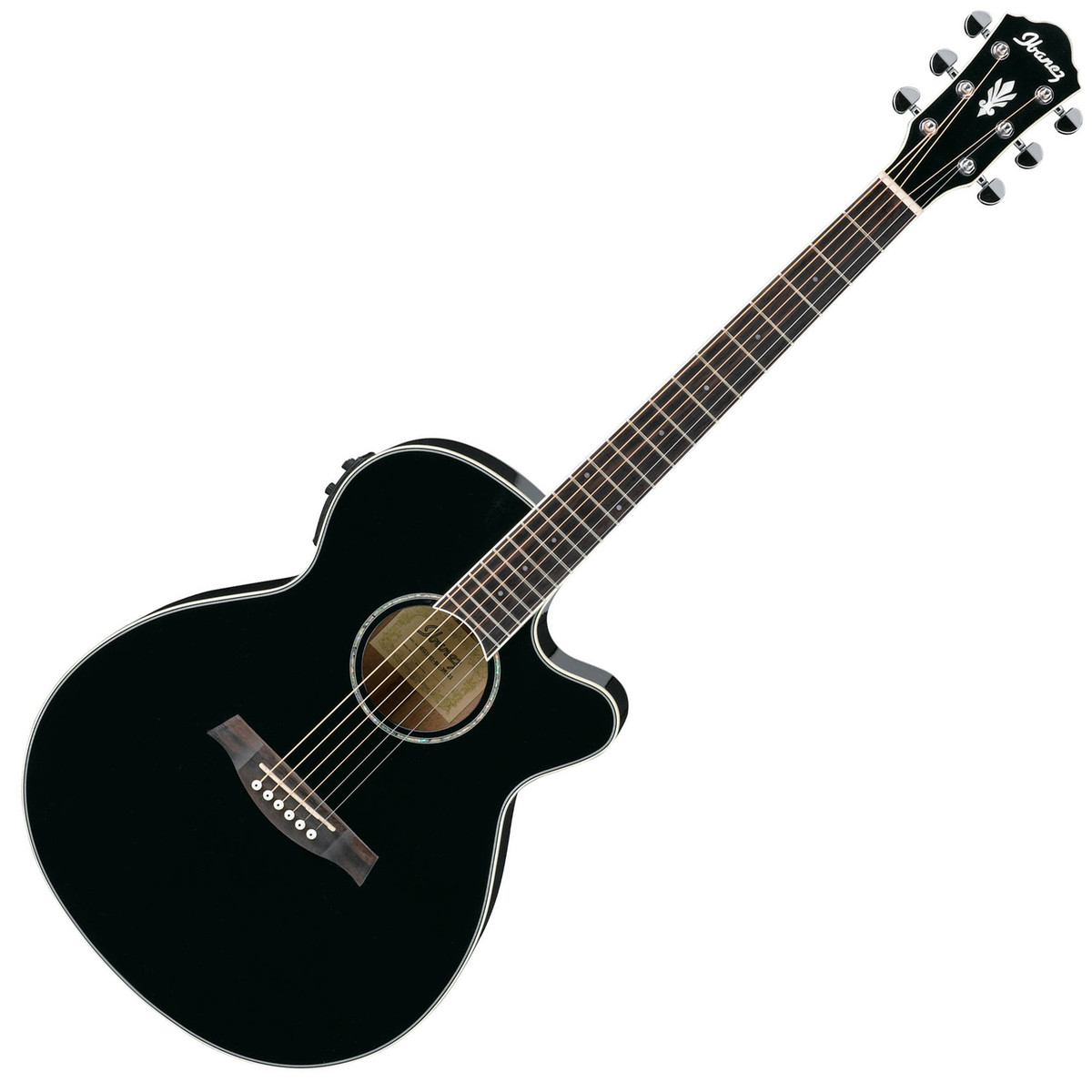 ibanez aeg10ii guitare electro acoustique noir. Black Bedroom Furniture Sets. Home Design Ideas