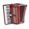 Deluxe Accordion by Gear4music, 48 Bass - Ex Demo