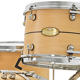 Pearl Masterworks 18'' 4 Piece Shell Pack, Matte Natural Pinstripe