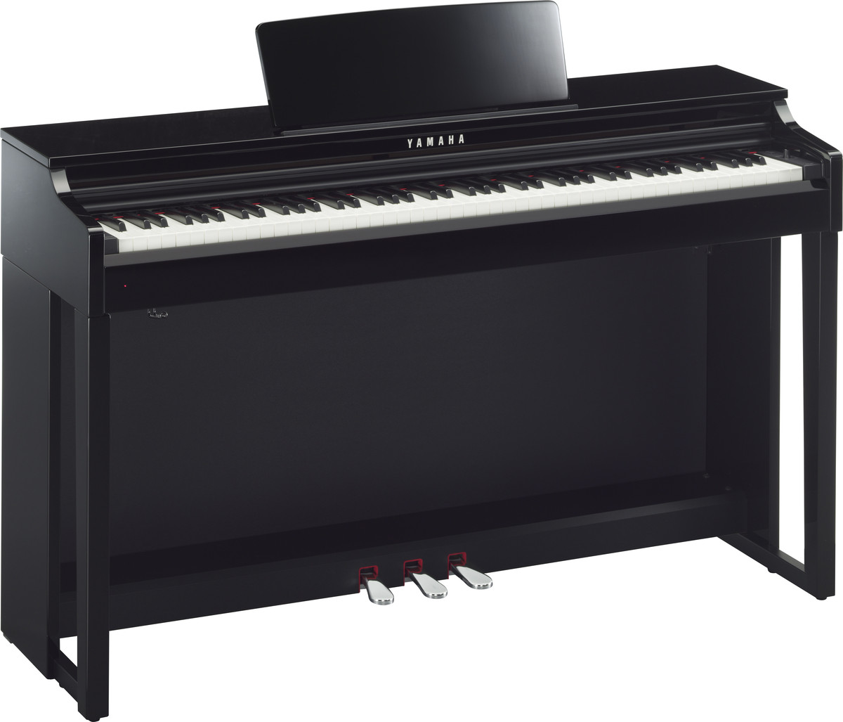 yamaha clavinova clp525 digital piano polished ebony at. Black Bedroom Furniture Sets. Home Design Ideas